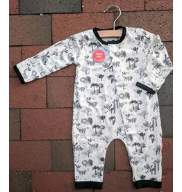 Magnificent Baby Magnetic Modal Coverall - Animal Safari (Neutral)