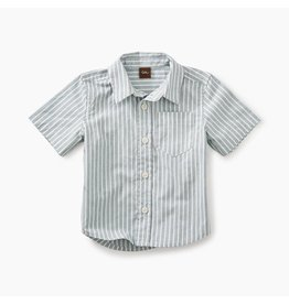 Tea Collection Striped Short Sleeve Baby Button-Down