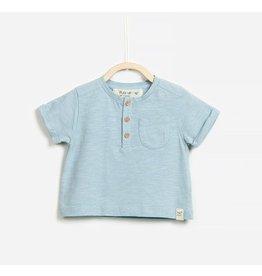 Play Up Organic Baby Button Tee - Ocean