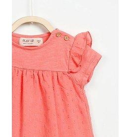 Play Up Organic Cotton Linen Dress - Sorbet