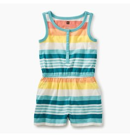 Tea Collection Vibrant Citrus Stripe Knit Romper