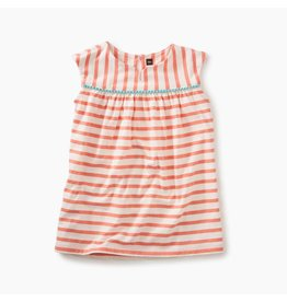 Tea Collection Pom-Pom Trimmed Dress - Citrus