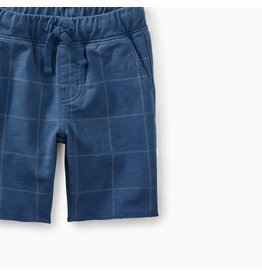 Tea Collection Criuser Baby Shorts - Cobalt Windowpane