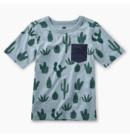 Tea Collection Tropical Florals Pocket Tee - Classic Cactii
