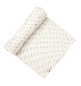 Petit Pehr Organic Muslin Swaddle - Yellow Pin Dots