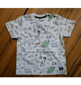 Kanz Cartoon Sketch Baby Tee