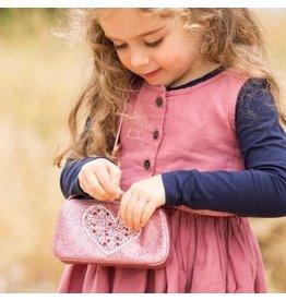 Peppercorn Kids Glitter Purse - Rose