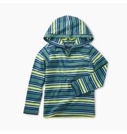 Tea Collection Foliage Striped Happy Hoodie