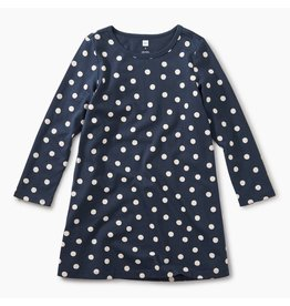 Tea Collection Stamped Dots Side Pleat Dress