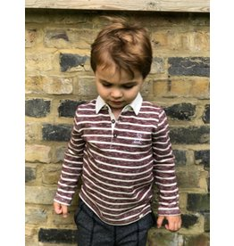 Me + Henry Me + Henry Classic Rugby - Burgundy Stripe