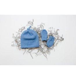 Pinewood Organic Pinewood Organic Hat & Mitten Set - Cornflower Blue