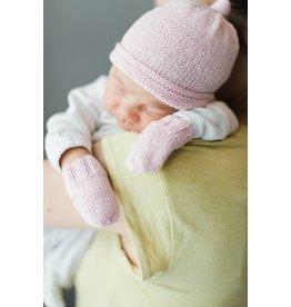Pinewood Organic Pinewood Organic Hat & Mitten Set - Sweet Pea Pink
