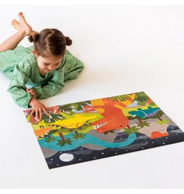 Petit Collage Floor Puzzle - Dinosaur Kingdom