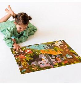 Petit Collage Floor Puzzle - Enchanted Woodland