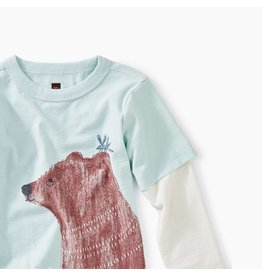 Tea Collection Brown Bear Graphic Baby Tee