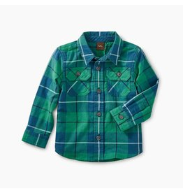 Tea Collection Double Weave Tartan Plaid Baby Buttondown