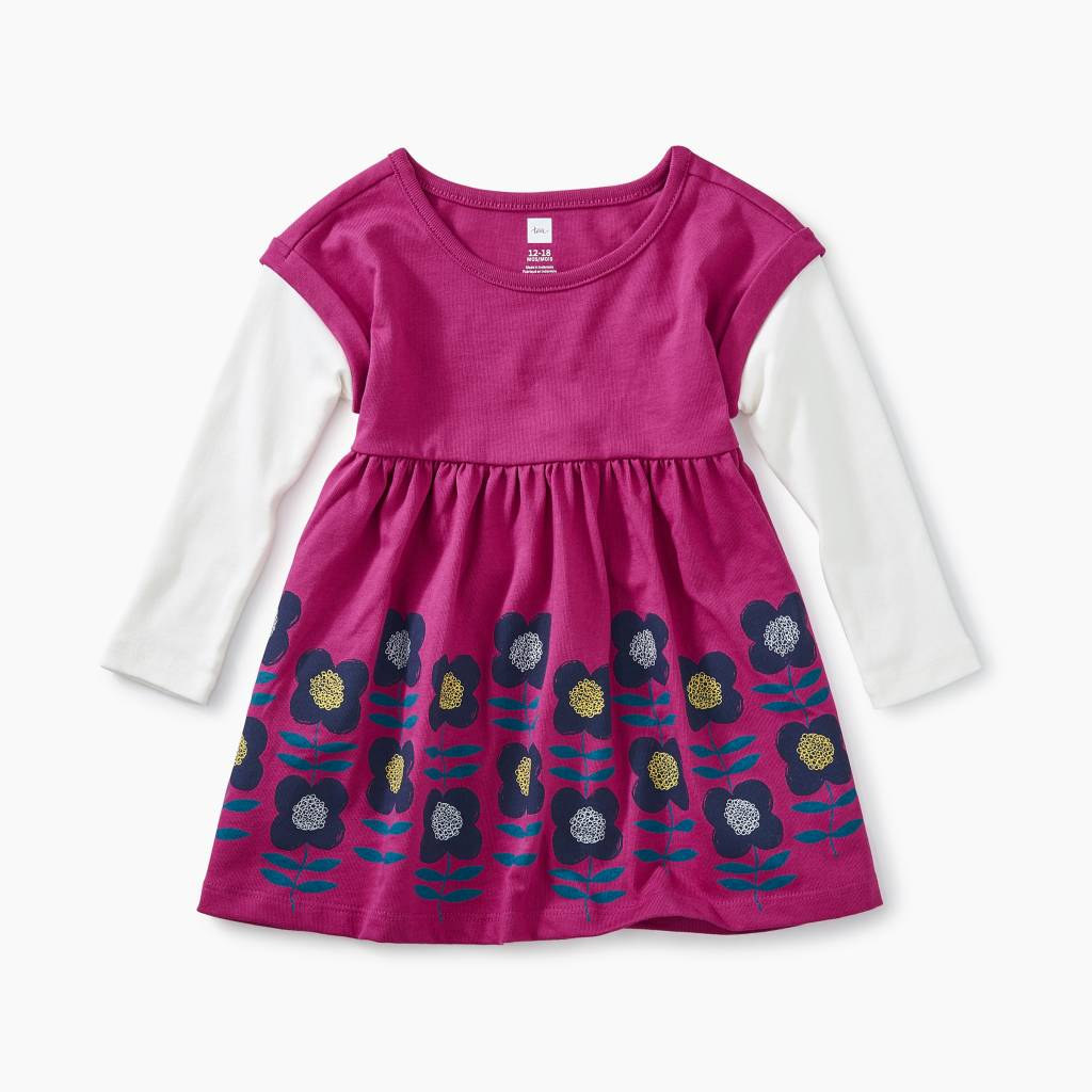 bd4fbd0ef46d Layered Sleeve Baby Dress - Sea Birds - Bump   Baby