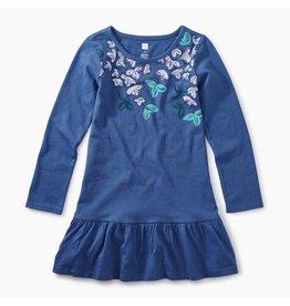 Tea Collection Vibrant Blossoms Ruffle Dress - Cobalt