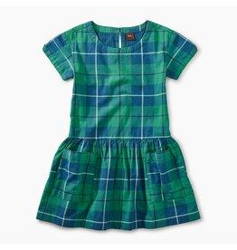 Tea Collection Tartan Plaid Woven Pocket Dress