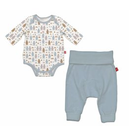 Magnificent Baby Magnetic Cotton Bodysuit & Pant Set - Beary Good Pals