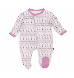 Magnificent Baby Magnetic Modal Footie - Foxy Fair Isle (Pinks)