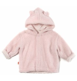 Magnificent Baby Magnetic Minky Fleece Baby Jacket - Peony