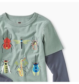 Tea Collection Tune Bugs Layered Graphic Tee