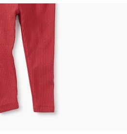 Tea Collection Pointelle Baby Leggings - Pomegranate