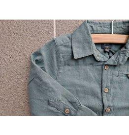 Babyface Cotton Camp Shirt - Steel Green