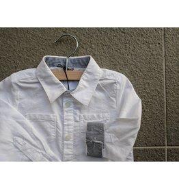Kanz Varsity Bright White Buttondown (Cuff Detail)