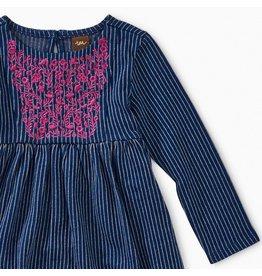 Tea Collection Embroidered Hi-Lo Dress - Nightfall