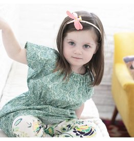 Emerald August Lesley Dress - Geo Verde