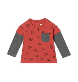 Art & Eden Mini Sam's Campsite Shirt-Adventure Rust