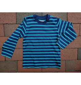 Kanz Classic Stripe Long-Sleeve Tee - Navy/Teal