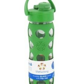 lifefactory LIfefactory flip cap glass bottle grass green 16 oz