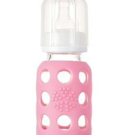 lifefactory Lifefactory  glass bottle pink 4 0z