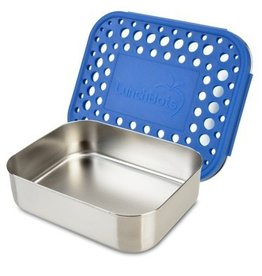 lunchbots Lunchbots stainless lunch container uno blue dots