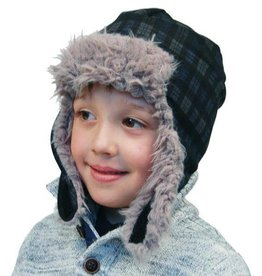 Puffin Gear Puffin Gear hat helmet arctic plaid navy 6-12 mths