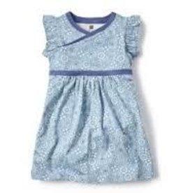 Tea Collection Tea Collection bandana print wrap dress blue sz 2