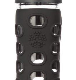 lifefactory Lifefactory glass bottle classic cap black 12 oz