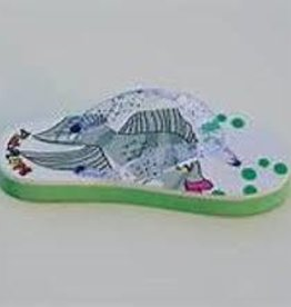 FISH FLOPS fish flops light ups  green size 5/6