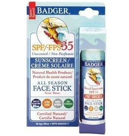 Badger Badger spf 35 all season face stick unscented