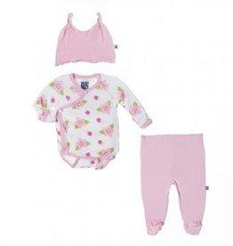 kickee pants Kickee pants ruffle kimono ladybug newborn