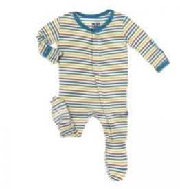 kickee pants Kickee pant footie fantasy stripe 3-6 m