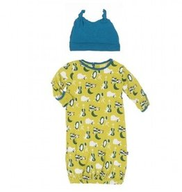 kickee pants Kickee Pants gown/ hat Hey diddle diddle 0-3 m