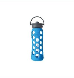 lifefactory Lifefactory  glass bottle straw cap  blue 22 oz