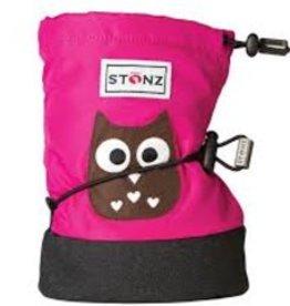 Stonz Stonz booties PLUSfoam owl fuchsia med