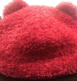 Puffin Gear Puffin Gear hat teddy bear dark pink sz 2-5 yrs