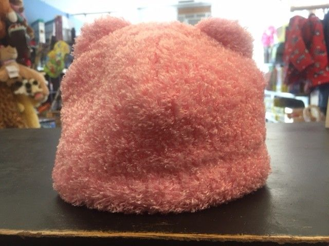 Puffin Gear Puffin Gear hat teddy bear light  pink 12-24 m