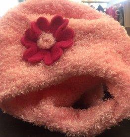 Puffin Gear Puffin Gear  hat lt pink/dk pink flower 12-24 m